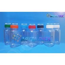 Botol plastik minuman segitiga 250ml tutup merah (PET1124)