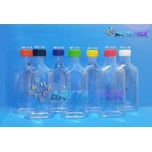 Botol plastik minuman gepeng 250ml tutup orange (PET1134)