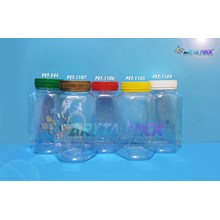 Toples plastik PET 700ml BKS tutup segel kuning (PET1105)