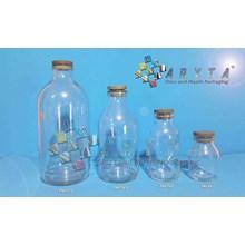 Botol kaca bening 500ml injeksi tutup karet (new) (PNC070(A))