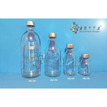 PNC299(A). Botol kaca bening 500ml injeksi tutup k