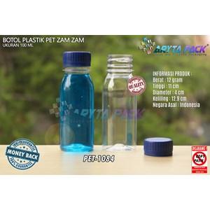 Dari Botol plastik PET 100ml zam-zam tutup segel biru (PET1084) 0