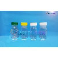 Botol plastik minuman 85ml BKB tutup segel kuning (PET957)