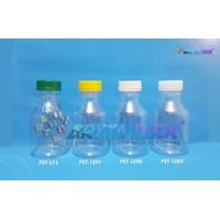 Botol plastik minuman 250ml BKB tutup segel natural (PET1089)