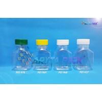 PET437. Botol plastik minuman 145ml ajwa tutup segel natural