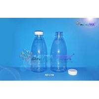 PET1198.Botol plastik minuman cinta 350ml tutup segel putih