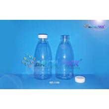 Botol plastik minuman cinta 350ml tutup segel putih (PET1198)