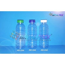 PET1242.Botol plastik PET 200ml aqua tutup segel