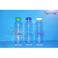 PET1244. Botol plastik PET 200ml aqua tutup segel
