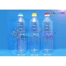 PET1237.Botol plastik PET 1 Liter aqua tutup dop