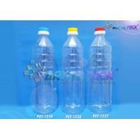 PET1239. Botol plastik PET 1 Liter aqua tutup dop