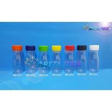 Botol plastik PET 60ml zam-zam tutup segel biru (PET1216)