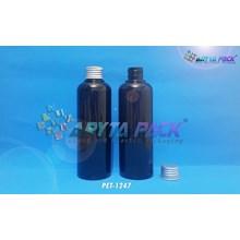 Botol plastik PET Joni hitam 250ml  tutup kaleng silver (PET1247)