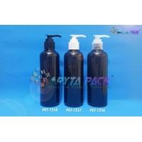 Botol plastik PET 250ml Joni hitam tutup pump putih susu  (PET1257)