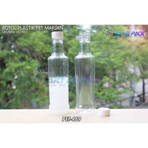 Botol plastik minuman 350ml marjan kecil tutup putih (PET469)