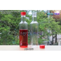 Botol plastik minuman 350ml marjan kecil tutup merah (PET1370) 1