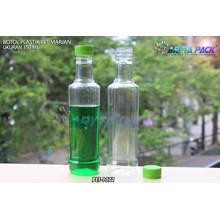 Botol plastik minuman 350ml marjan kecil tutup hijau (PET1372)