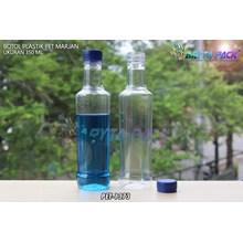 Botol plastik minuman 350ml marjan kecil tutup biru (PET1373)