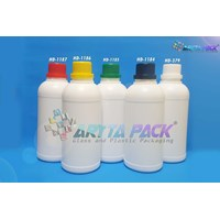 Botol plastik HDPE 500ml labor putih susu tutup hitam (HD1184) 1