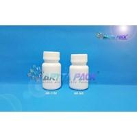 Botol plastik HDPE 50ml kapsul kecil tutup segel (HD365)