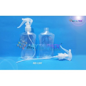 Botol plastik PET 300ml handyclean tutup spray pistol natural (PET1397)