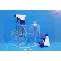 Botol plastik PET 500ml handshoap viktor tutup spray trigger biru (PET1400) 1