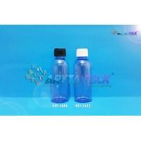 Botol plastik PET 60ml Lena ungu tutup ulir putih (PET1423)
