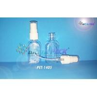 Botol plastik PET 30ml kosmetik gepeng tutup spray (PET1405) 1