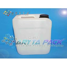 Jerigen plastik HDPE 10 liter natural (HD397-B)