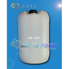 Jerigen plastik HDPE 30 liter kotak natural ( HD400-B )