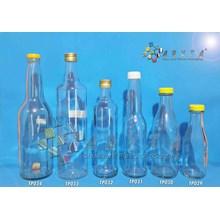 Botol kaca bening 600ml marjan tutup kaleng (second) (TP033A)
