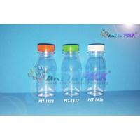 Botol plastik PET 80ml zam-zam tutup pendek segel hijau (PET1437)
