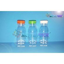 Botol plastik PET 80ml zam-zam tutup pendek segel putih (PET1438)