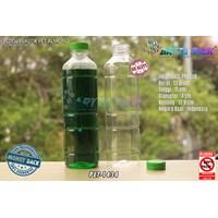 Botol plastik minuman 330ml pet almond tutup hijau (PET1434)