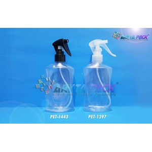 Botol plastik PET 300ml handyclean tutup spray pistol hitam (PET1443)