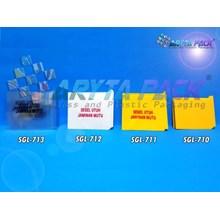 Segel plastik utuh warna bening tulisan uk. 28mm (SGL713)