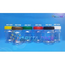 Toples plastik pet 125ml top-1 tutup gold (PET928)