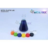 Botol plastik minuman 300ml lab tutup segel kuning (PET1832) 1