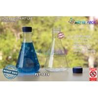 Dari Botol plastik minuman 300ml lab tutup segel biru (PET1834) 0