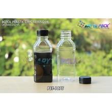 Botol plastik minuman 250ml cimory pendek tutup segel hitam (PET1875)