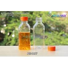 Botol plastik minuman 250ml cimory pendek tutup segel orange (PET1877)