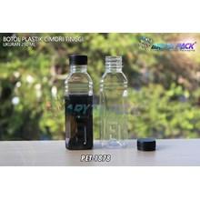 Botol plastik minuman 250ml cimory tinggi tutup segel hitam (PET1878)