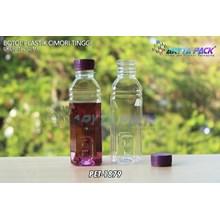 Botol plastik minuman 250ml cimory tinggi tutup segel ungu (PET1879)