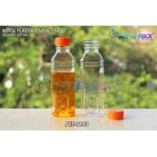 Botol plastik minuman 250ml cimory tinggi tutup segel orange (PET1880)