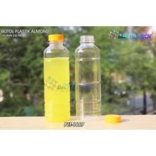 Botol plastik minuman 330ml pet almond tutup kuning (PET1667)