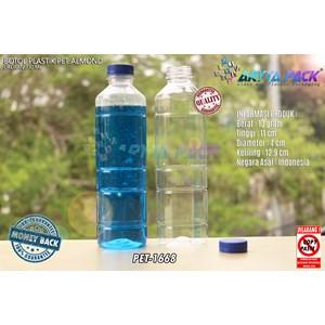 Dari Botol plastik minuman 330ml pet almond tutup biru (PET1668) 0