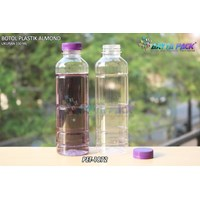 Botol plastik minuman 330ml pet almond tutup ungu (PET1872)