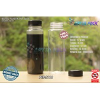 Botol plastik minuman 250ml jus kale sase tutup segel hitam ( PET2118 ) 1