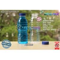 Dari Botol plastik PET 200ml aqua tutup segel biru (PET1243) 0