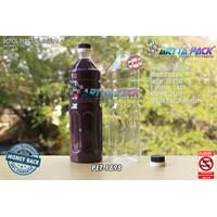 Dari Botol plastik PET 1 Liter aqua tutup dop segel biru tua (PET1898) 0